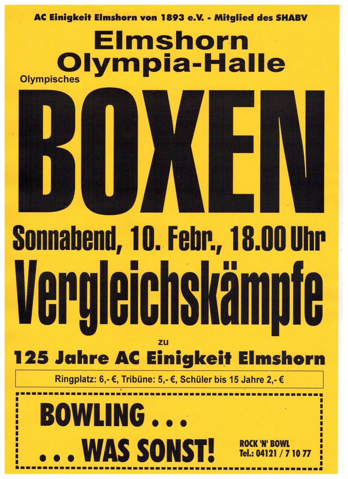 Boxen am 10. Februar in Elmshorn