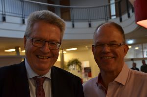 Moderator K. Tiedemann und Olaf Seiler, SKE_Manager