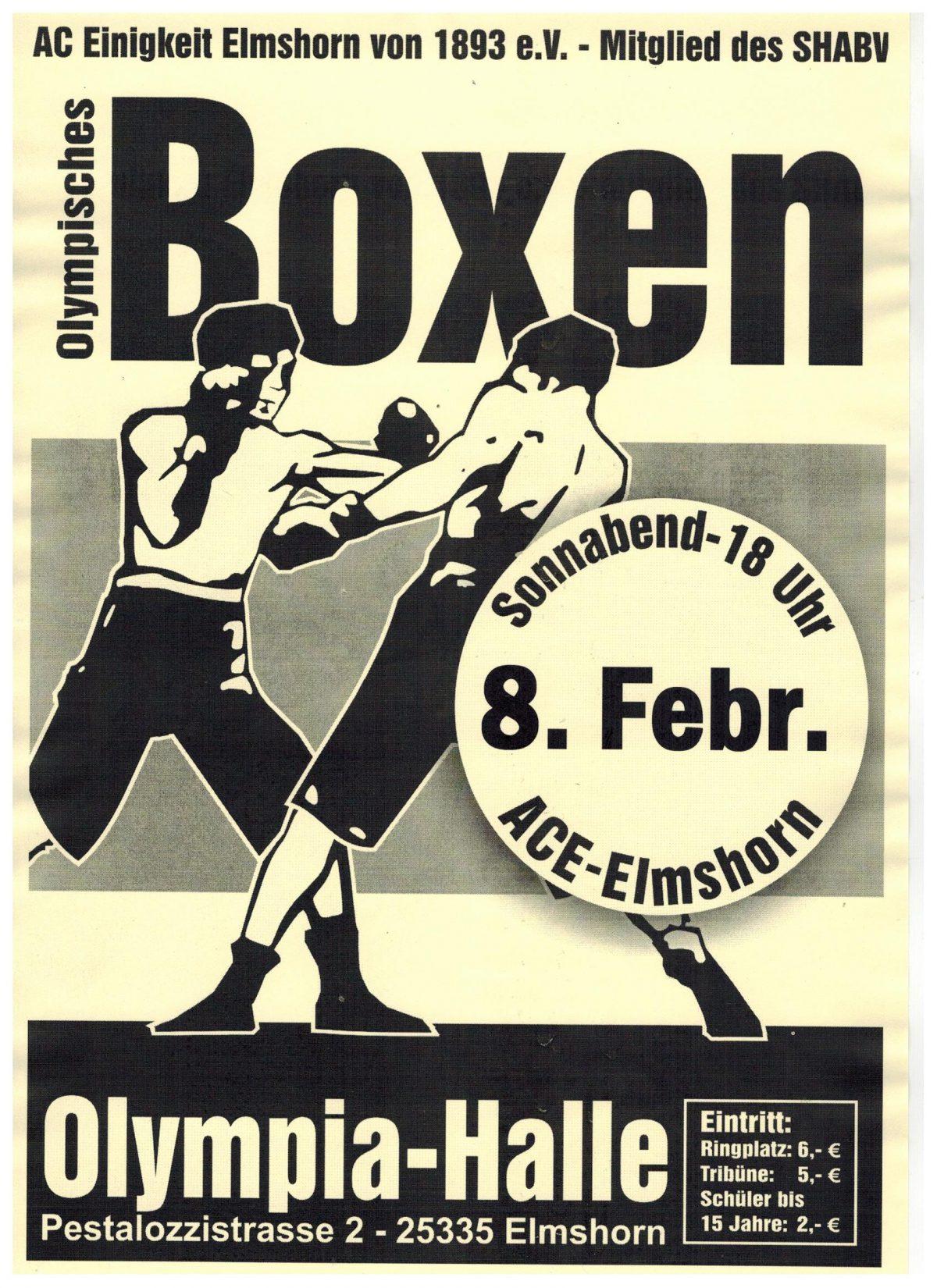 Ausschreibung – Vergleichskämpfe am 8. Februar in Elmshorn